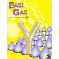 "Easi Gas  3 Way ""Y"" Hose Union Connector"