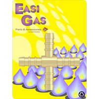 "Easi Gas  4 Way ""+"" Hose Union Connector"