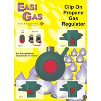Easi Gas  Clip On Propane Gas Regulator - 27mm