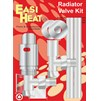 Easi Heat  Angle Pattern Thermostatic Towel Rail Radiator Valve Kit - 1/2in