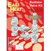 Easi Heat  Polished Brass Victorian Head Radiator Thermostatic Kit - 1/2in