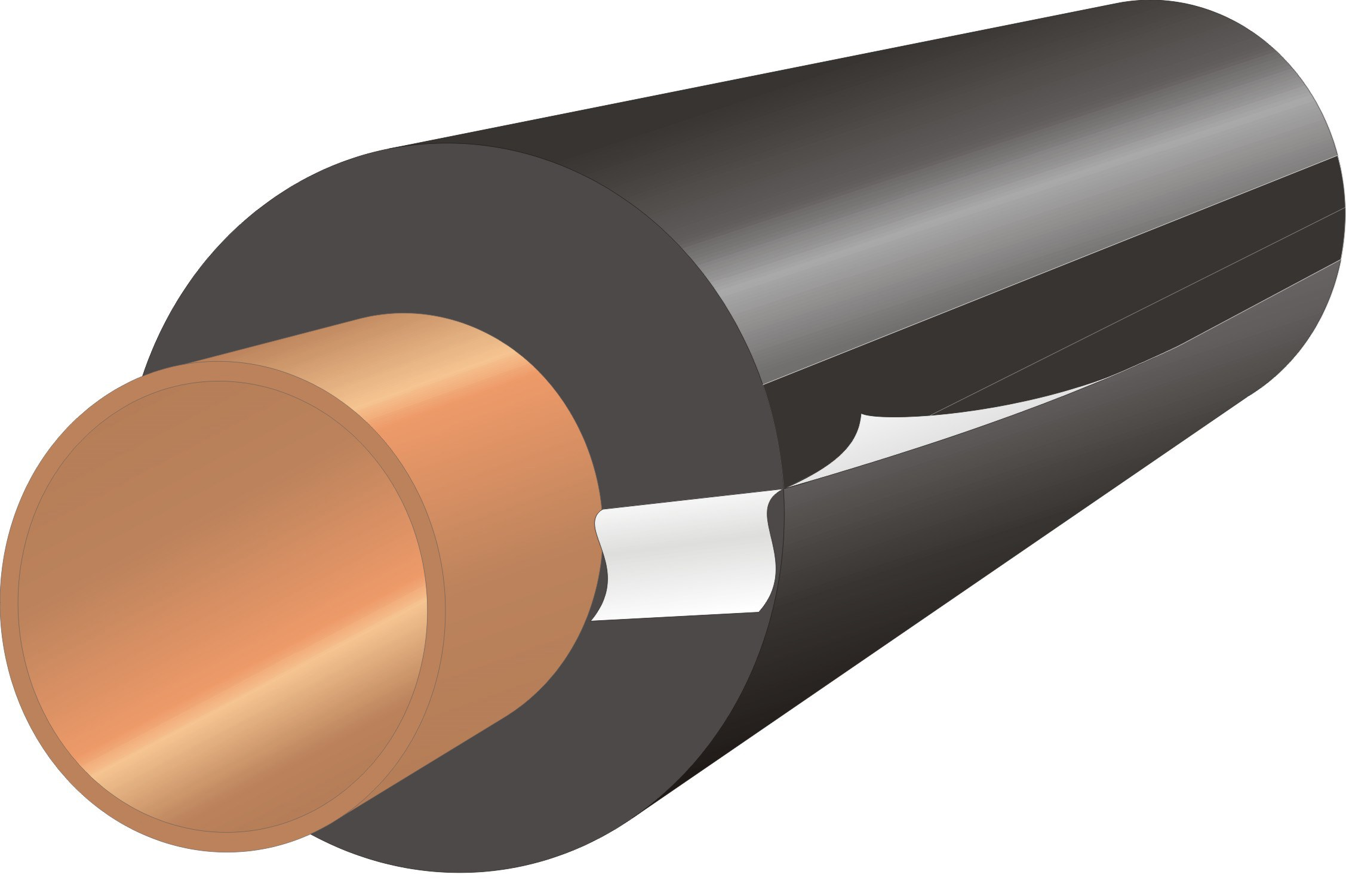 Economiser  AeroFlex Slit Pipe Insulation - 1/2in x 2m