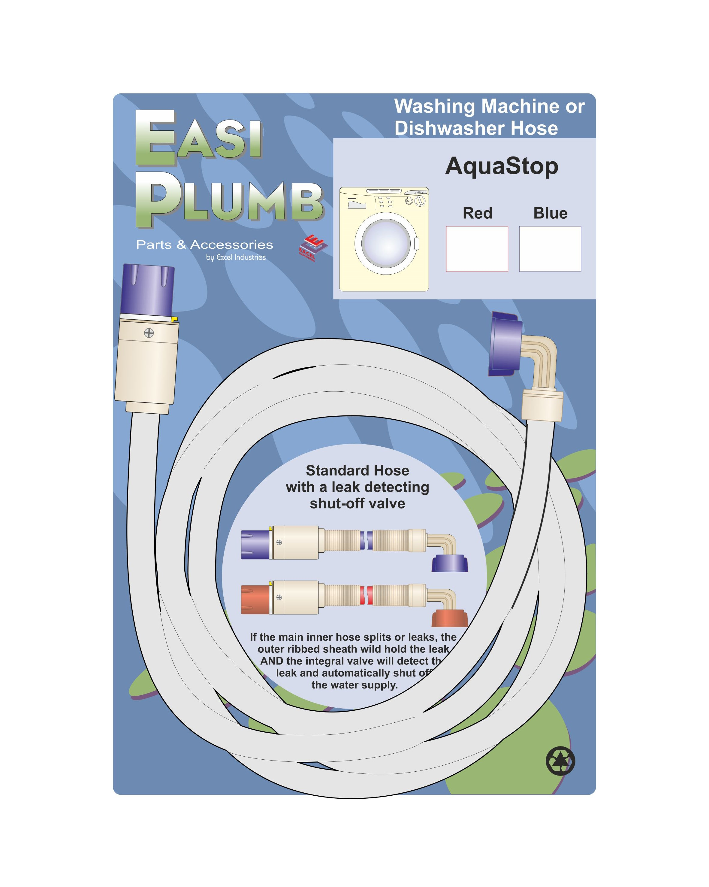 Easi Plumb  AquaStop Appliance Hose - Blue