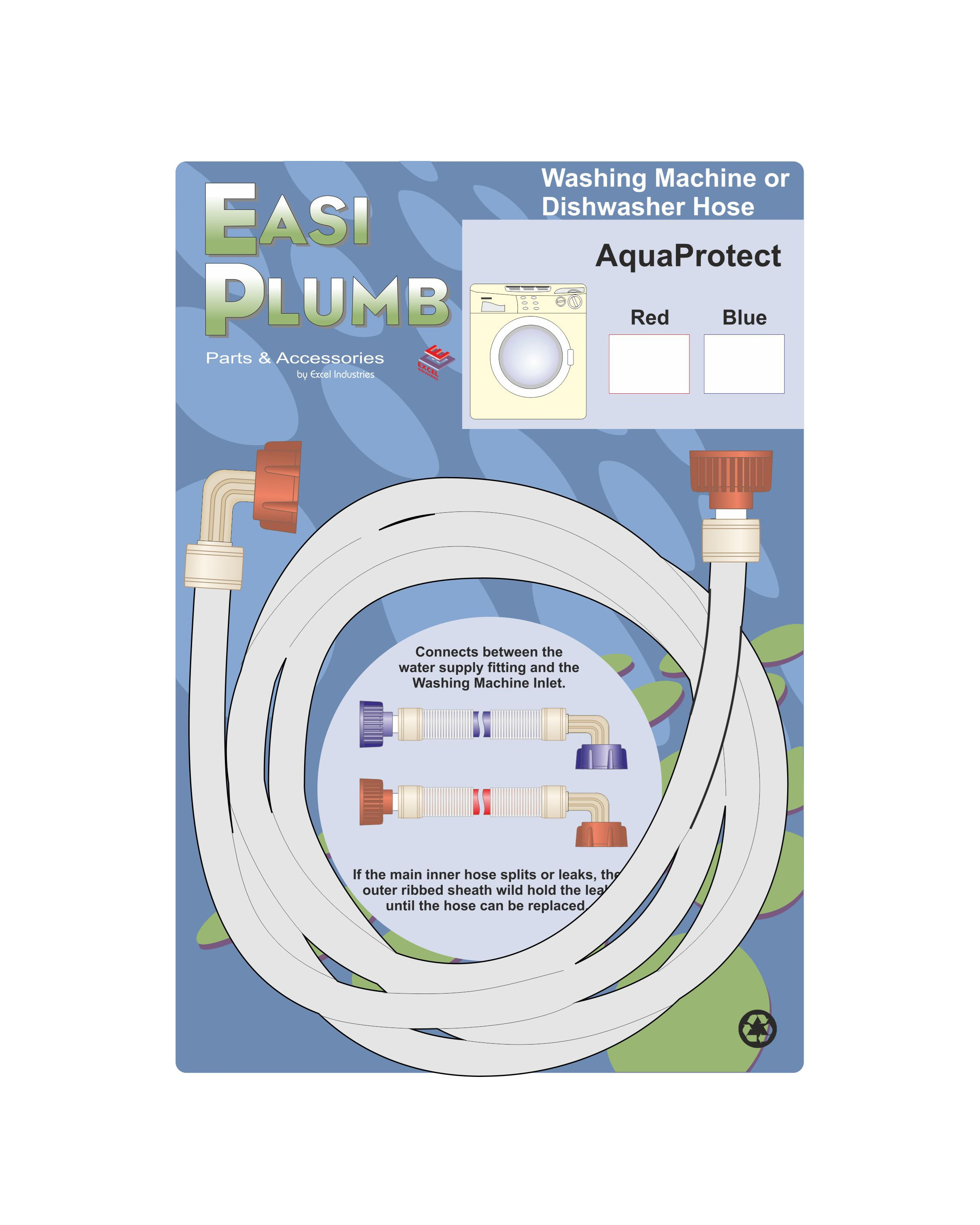 Easi Plumb  AquaProtect Appliance Hose - Blue