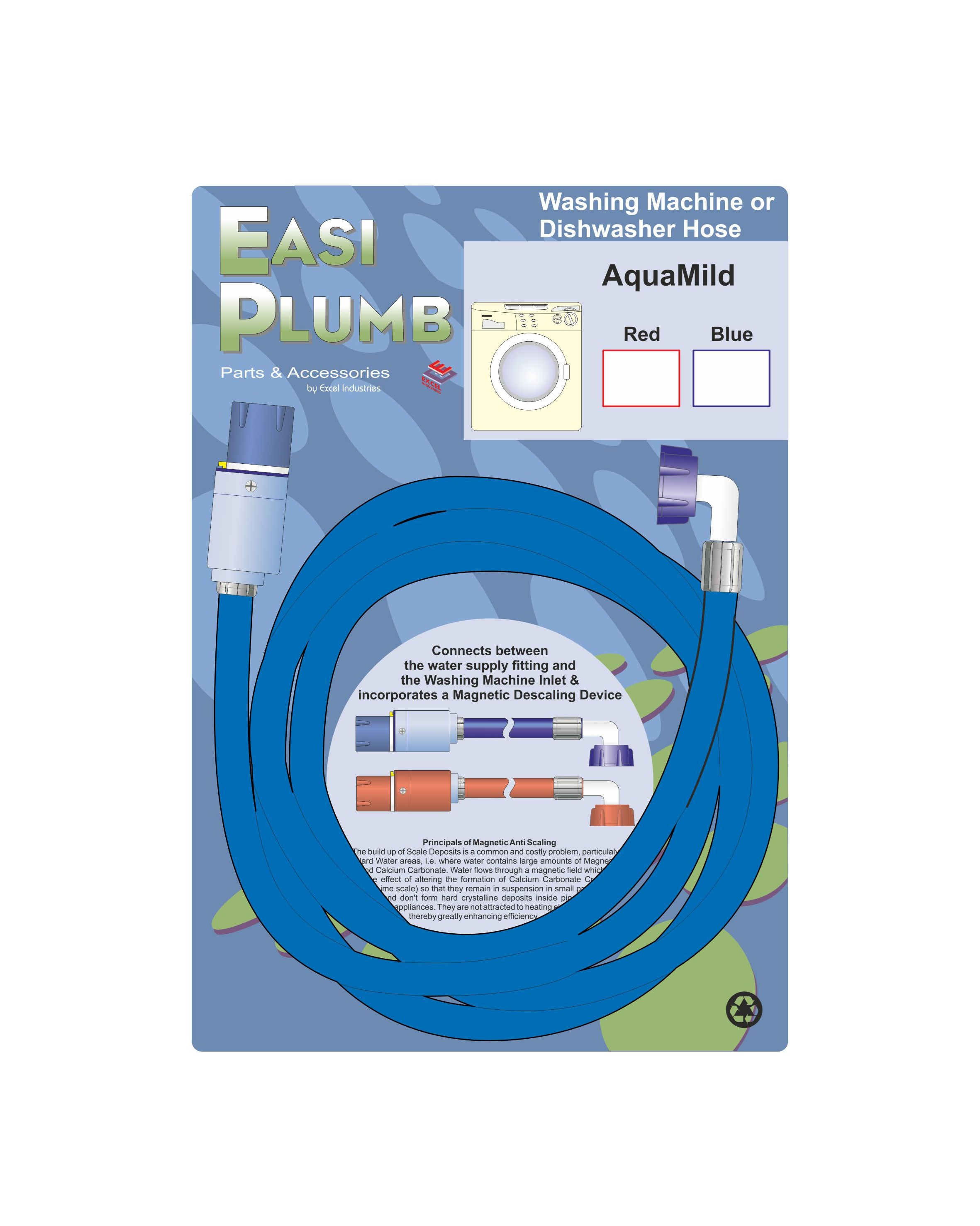 Easi Plumb  AquaMild Appliance Hose - Blue