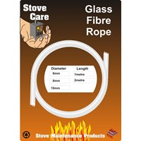 Stove Care  Glass Fibre Rope - 8mm x 1m