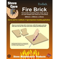 Stove Care  FireTech Fire Brick - 30 x 25 x 2.5cm
