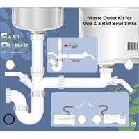 Easi Plumb  Waste Outlet Kit for One-and-a-Half Bowl Sink - 1.5in