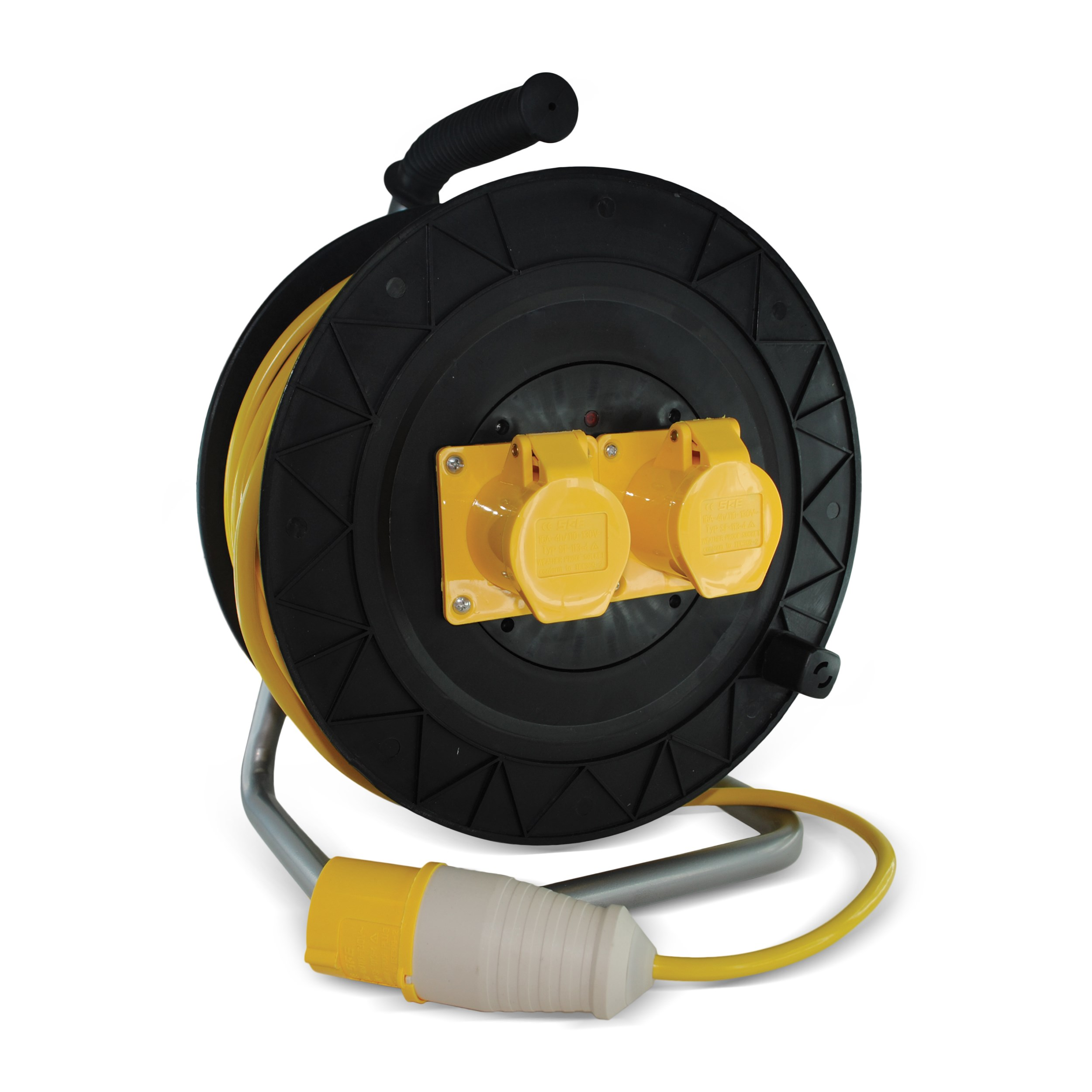 Safeline  Domestic Yellow Artic Cable Reel With 16 Amp Plug - 25 Metre