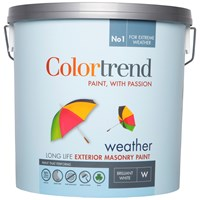Colortrend  Weather Exterior Masonry Paint Pure Brilliant White - 10 Litre