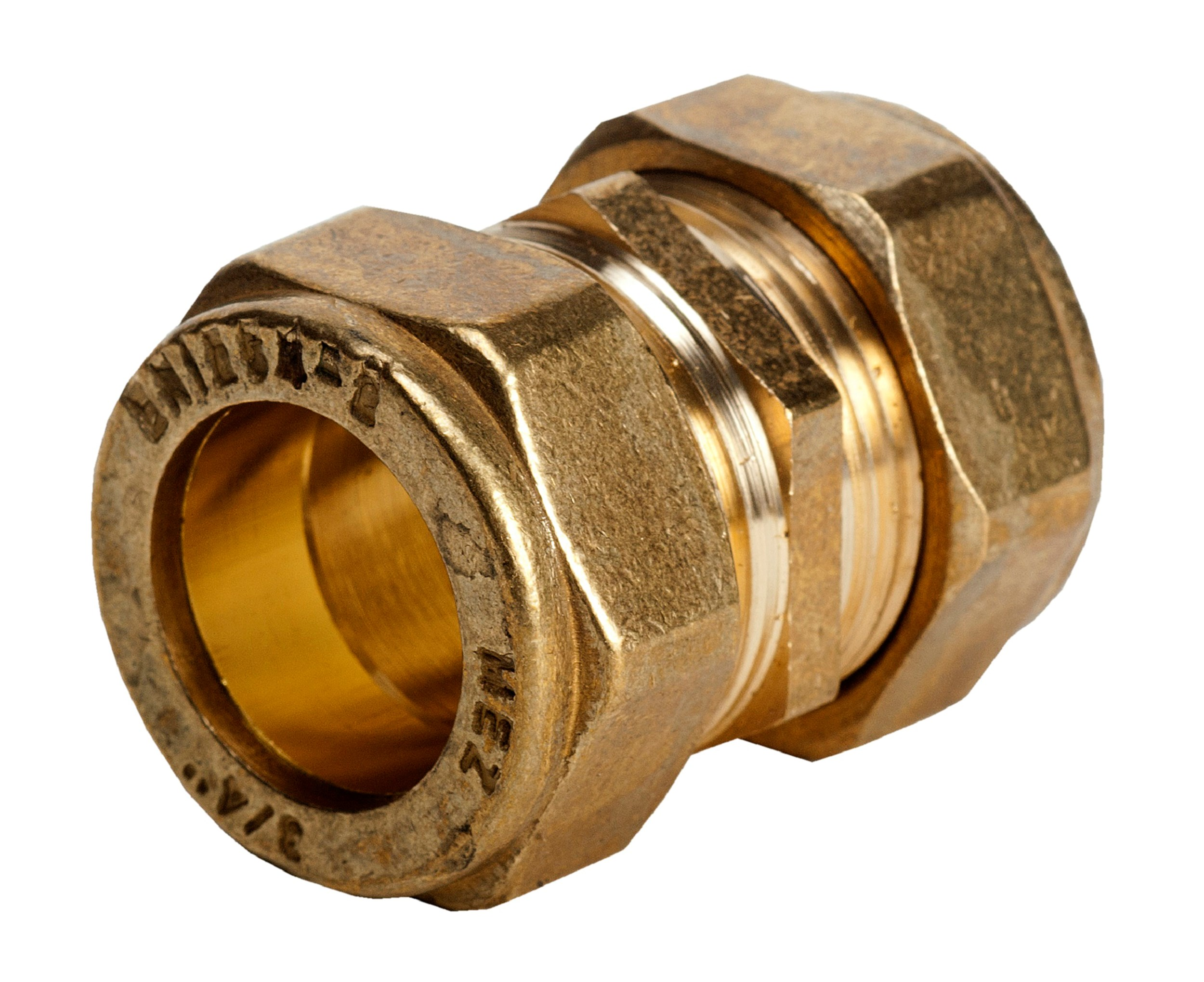Mez reducing straight coupler pipe fitting brass