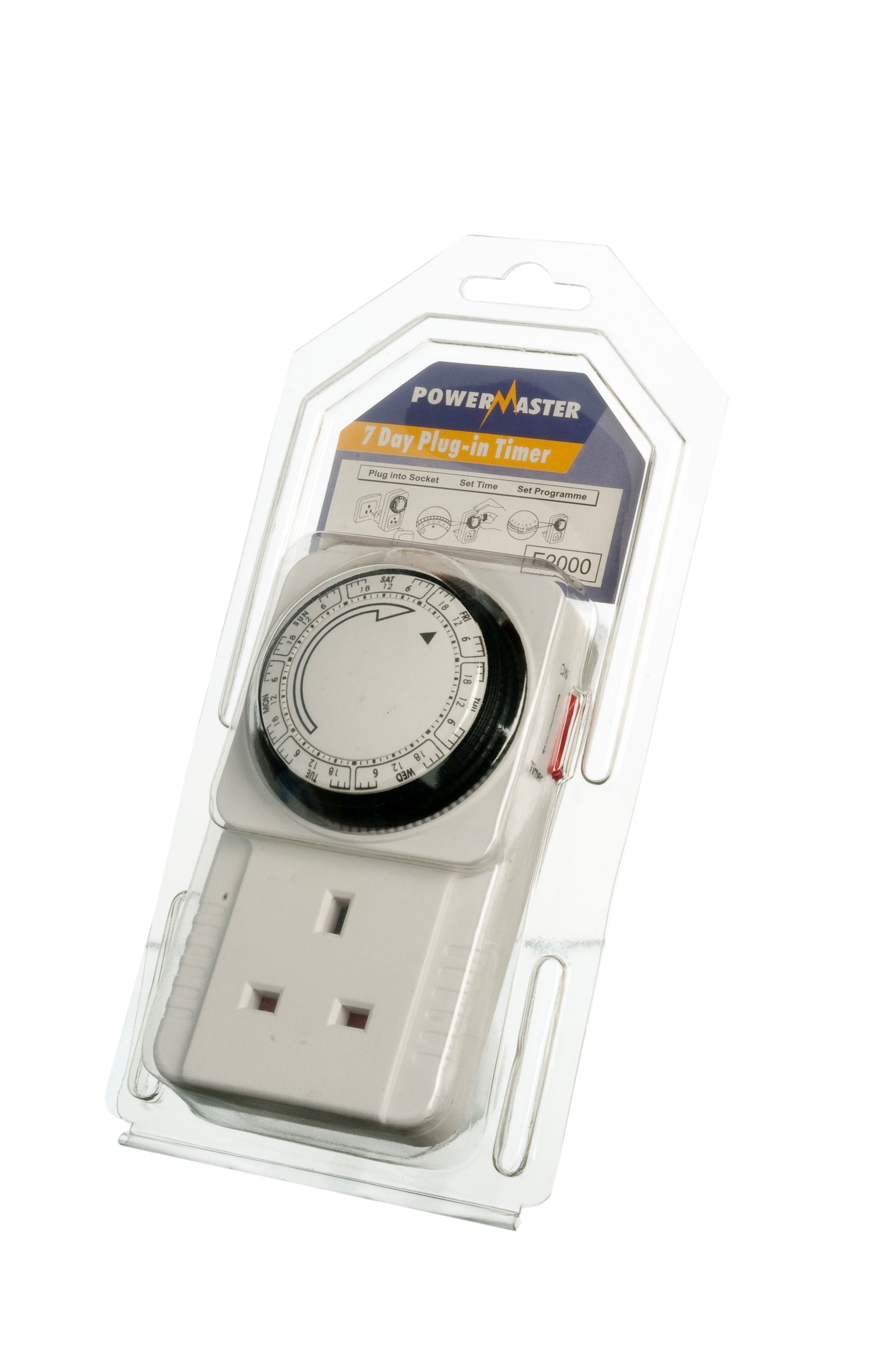 Powermaster  7 Day Plug-In Timer - 13 Amp
