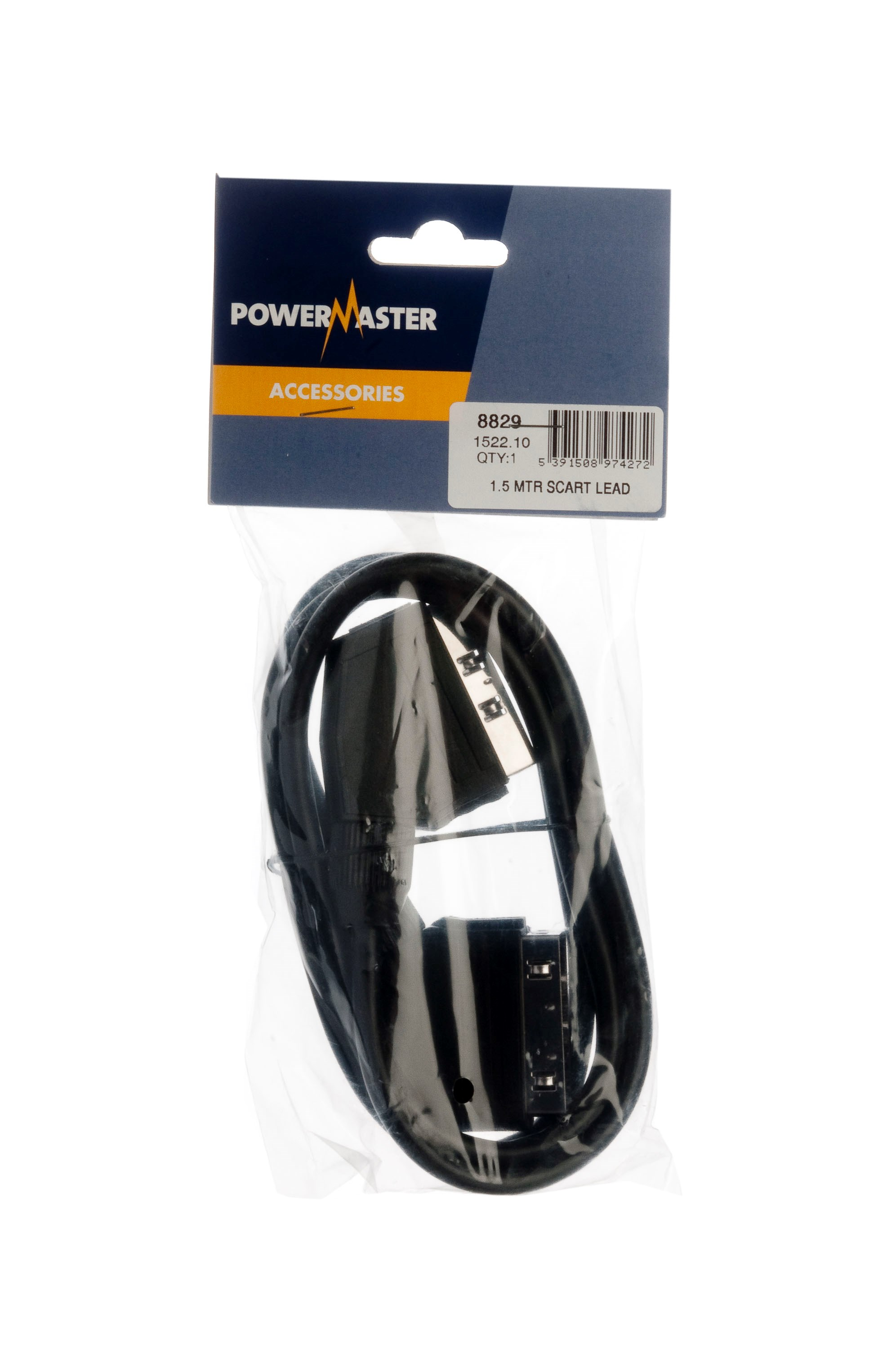 Powermaster  Scart Lead - 1.5m
