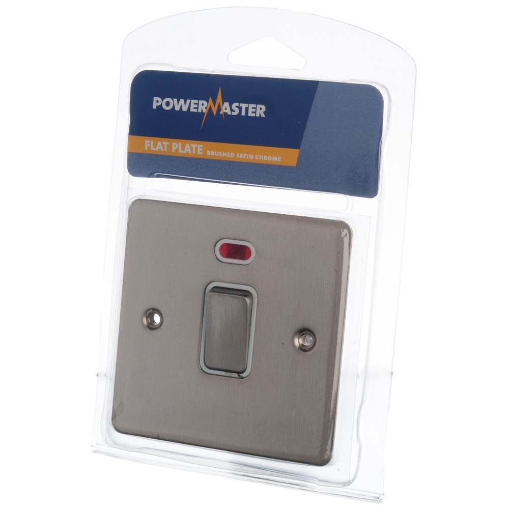 Powermaster Double Pole Switch Chrome - 20 Amp | Switches & Sockets ...