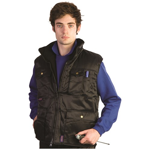 Bodyworks  Beaver Nylon Body Warmer - Navy