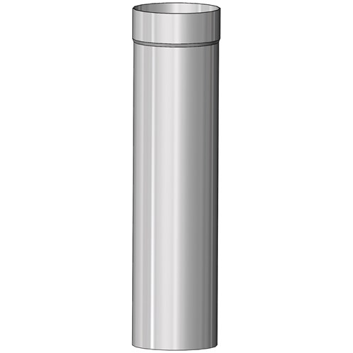 Mi-Flues System 1 Single Wall Flue Pipe for Multi-Fuel - 250mm Length