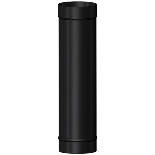 Mi-Flues System 7 Vitreous Enamelled Flue Pipe 1m Length - Gloss Black