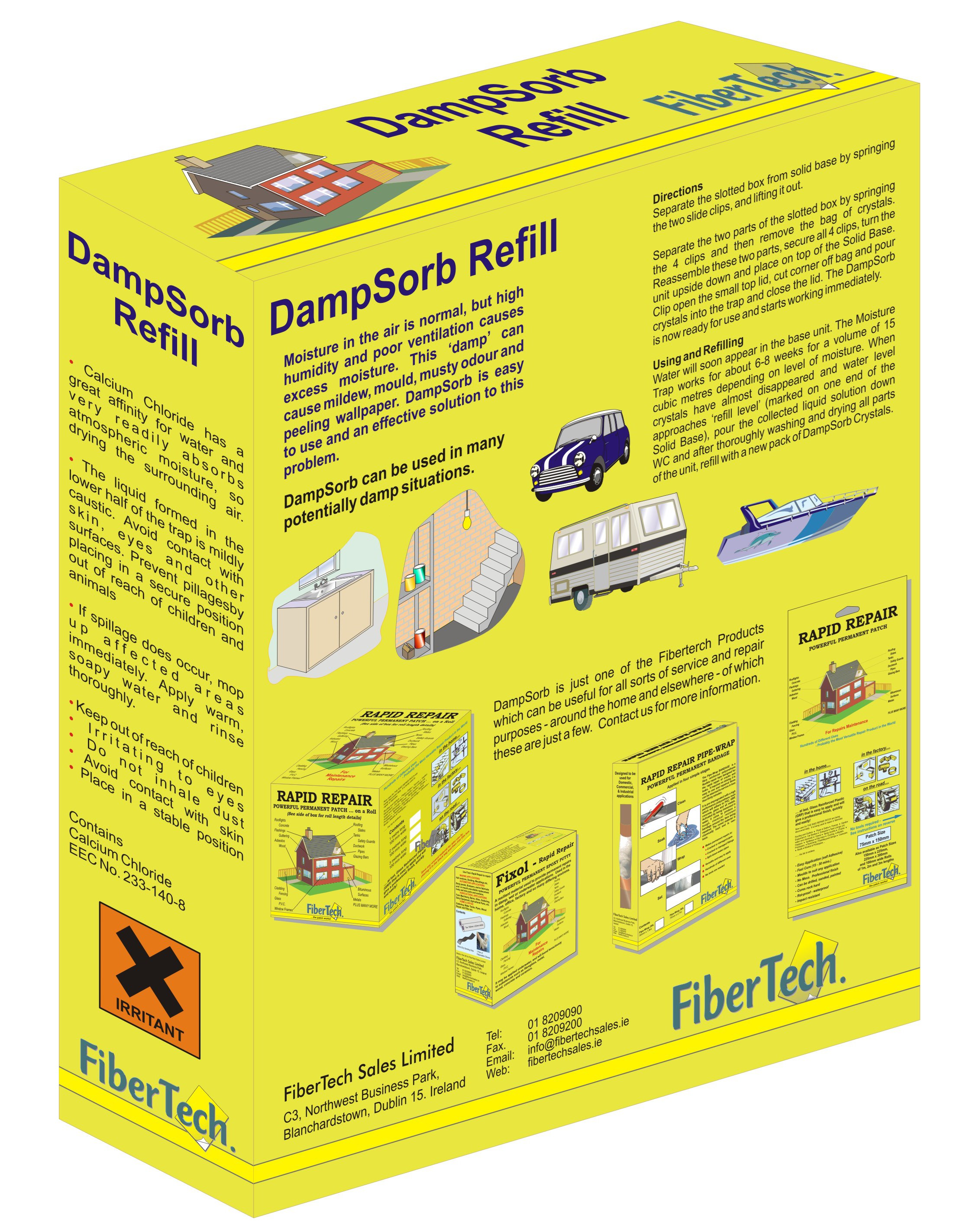 Fiber Tech  DampSorb Refill - 500g