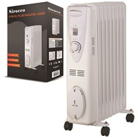 Sirocco  9 Fin Oil Filled Radiator - 2KW