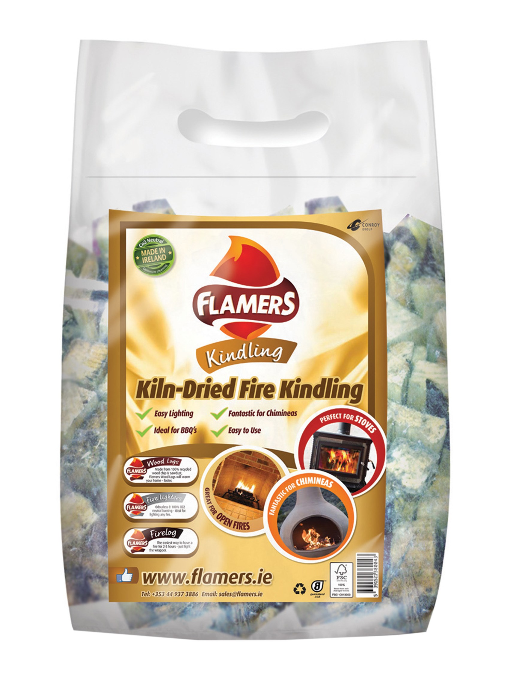 Flamers  Kiln Dried Fire Kindling - 3kg
