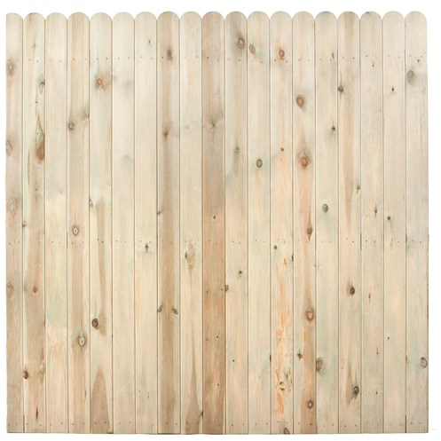 Independent Fencing  Premier Pressure Treated Round Top Closed Board Fence Panel - 1800 x 1800mm