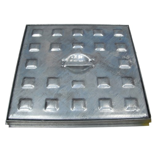 Galco  Galvanized Pedestrian Traffic Access Cover & Frame - 2.5 Tonnes