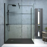 Bathroom Studio  Aspect Black Wetroom Panel