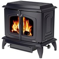 Stanley Grainne 15.8kW Double Door Boiler Stove - Matt Black