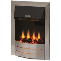 Stanley  Arranmore Electric Inset Stove - Chrome Trim