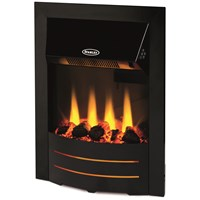 Stanley  Bailey Electric Inset Stove - Black Trim