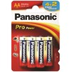 Panasonic  Pro Power Batteries AA - 4 + 2 Free
