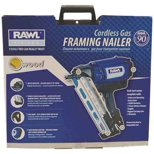Rawlplug  Cordless Gas First Fix Framing Nailer