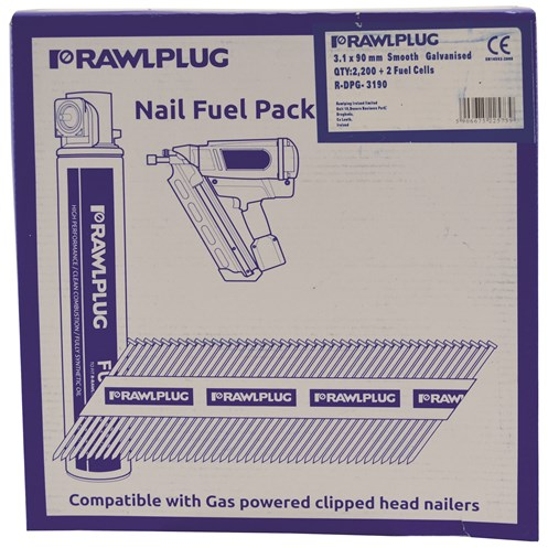 Rawlplug  Smooth Galvanised Framing Nails - 2,200 Pack