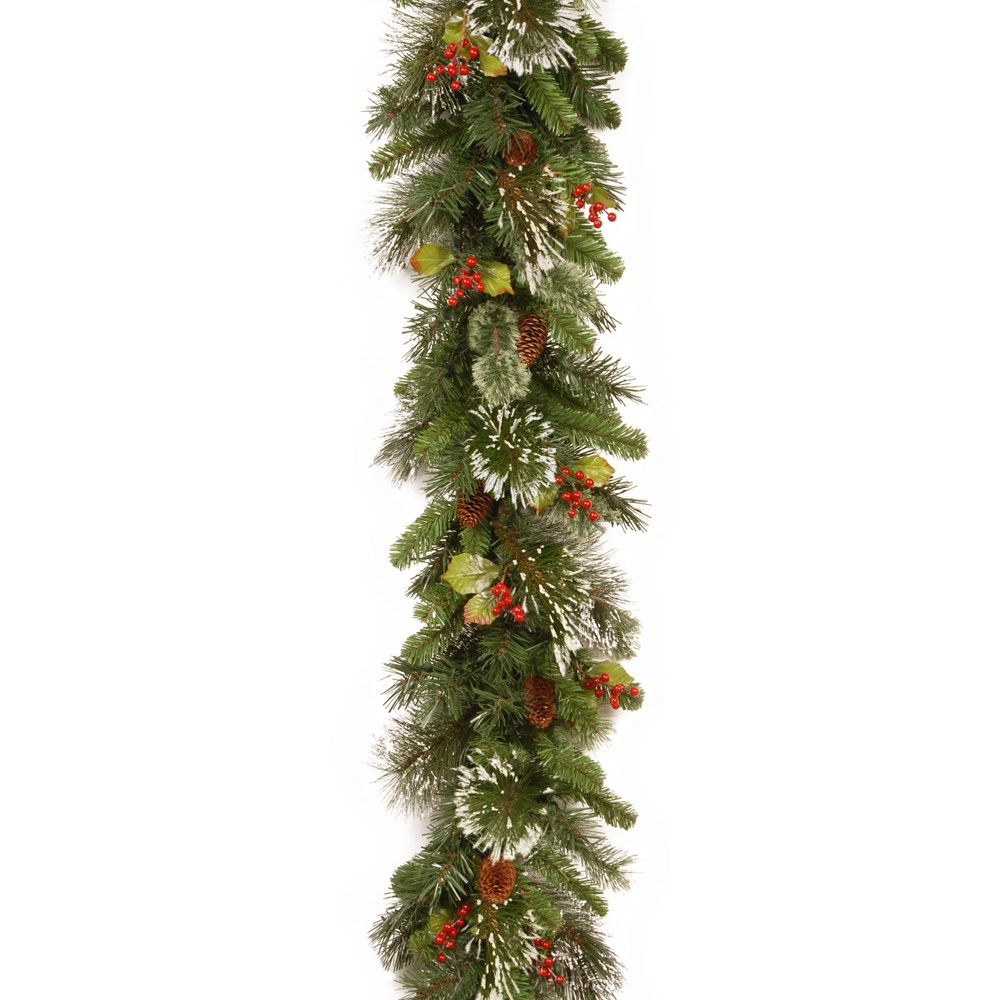 National Tree Company Wintry Pine Christmas Garland with Pine Cones ...