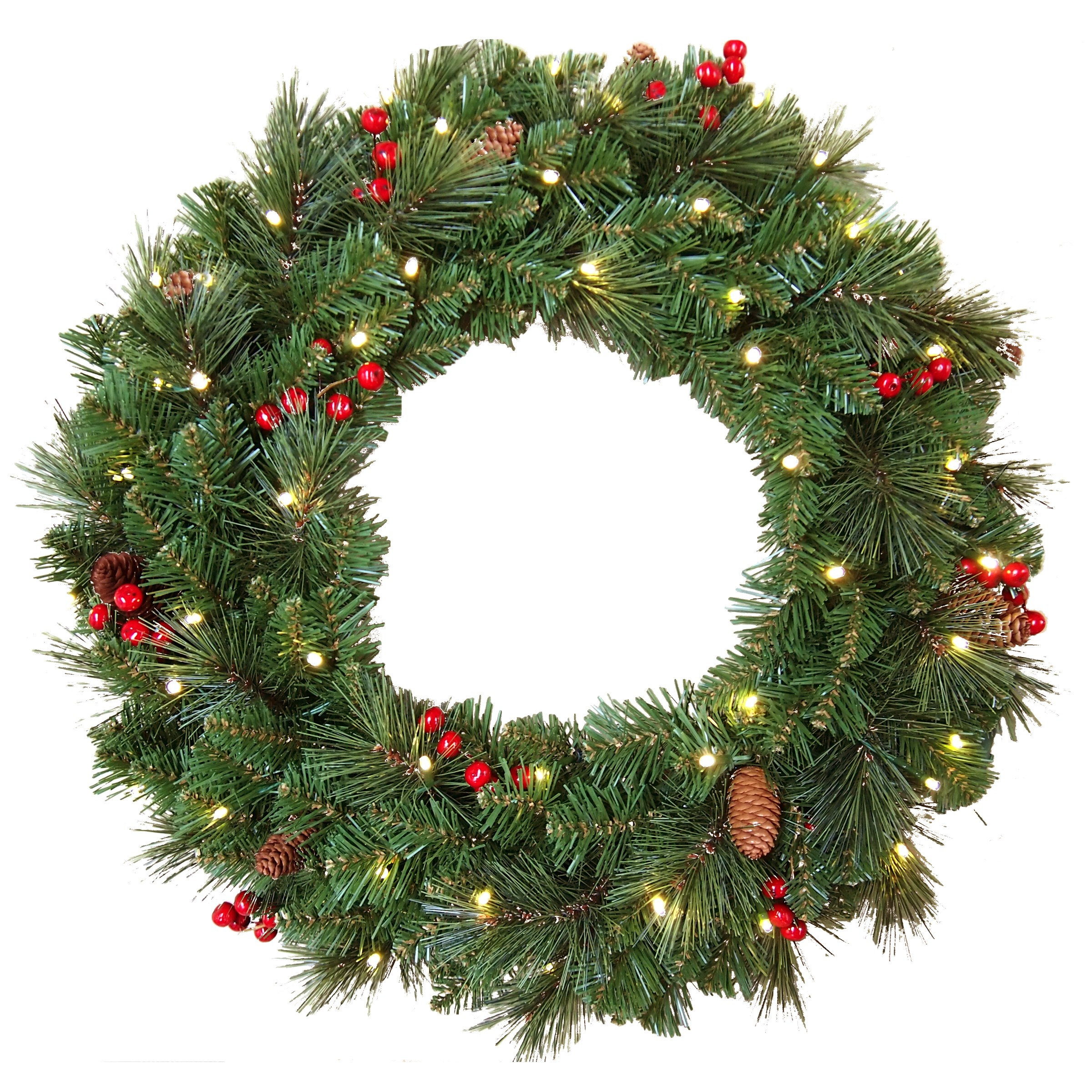 National Tree Co  Everyday Collection Pre-Lit Wreath -  60cm