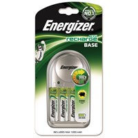 Energizer Base Charger with Pack of 4 AA Rechargable Batteries