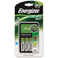 Energizer Maxi Charger with Pack of 4 AA Rechargable Batteries