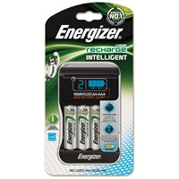 Energizer Intelligent Charger with Pack of 4 AA Rechargable Batteries