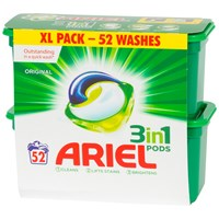 Ariel  3 in 1 Regular Pods Washing Capsules - 52 Washes