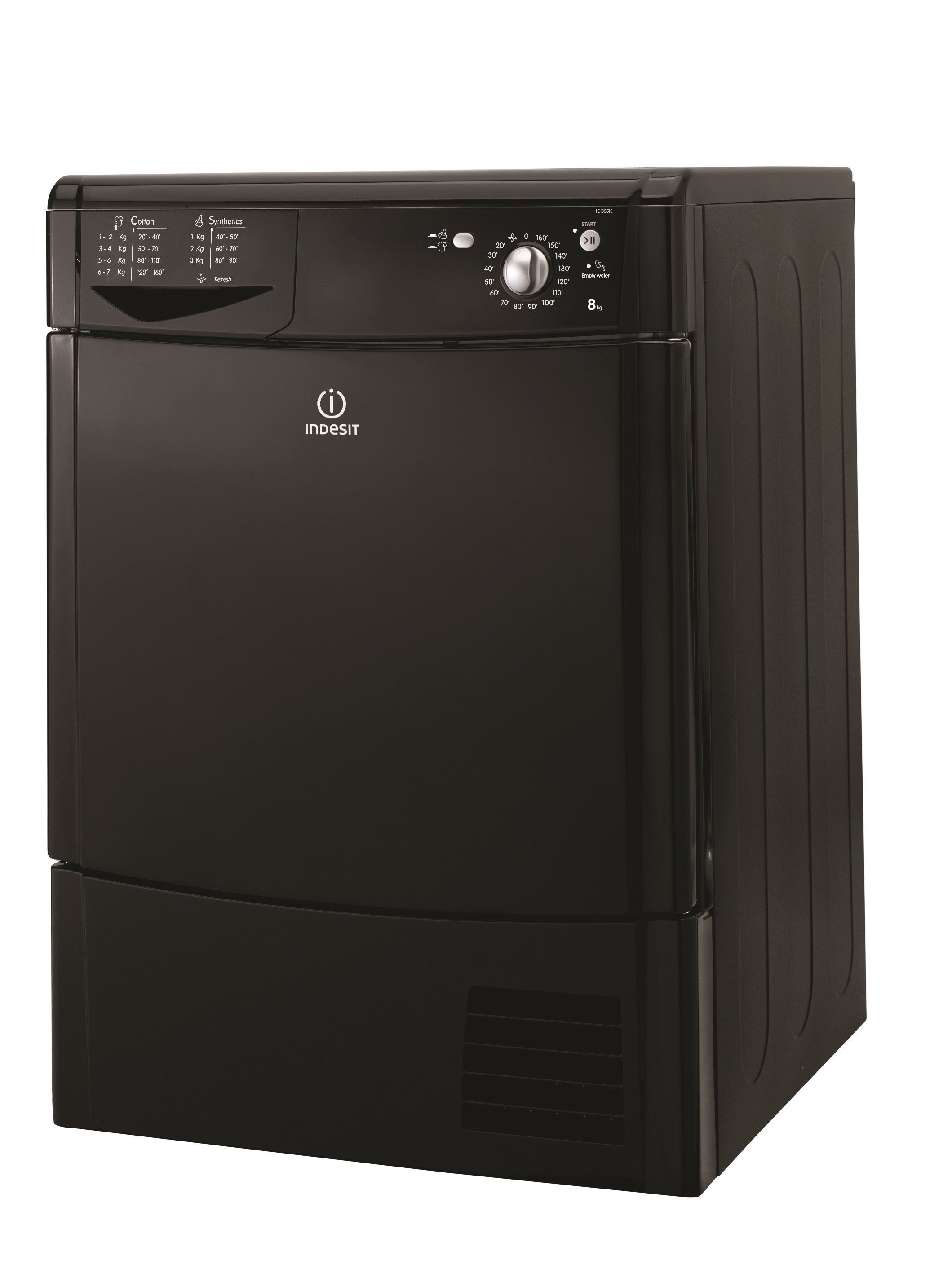 Indesit  Black Tumble Dryer - IDC85K