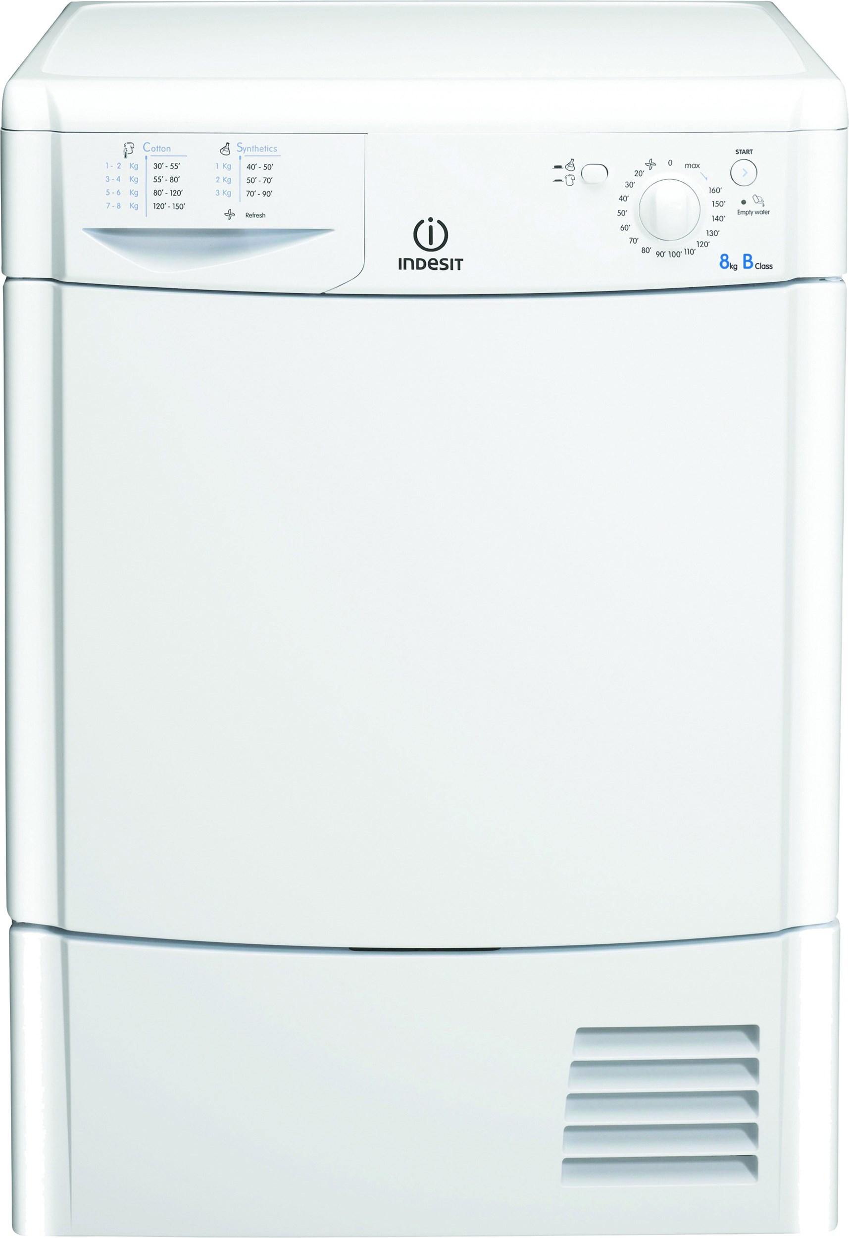 Indesit  8kg Condenser Dryer - IDC8T3B