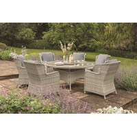 Eden Rose 6 Seater Round Rattan Set  - 1.5m