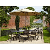 Hartman  Amalfi Cast Aluminium 8 Seater Rectangular Furniture Set