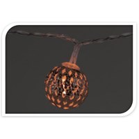 10 LED Moroccan Copper Ball Light