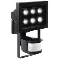 XQLITE  LED Black Security Light with Motion Sensor - 6W