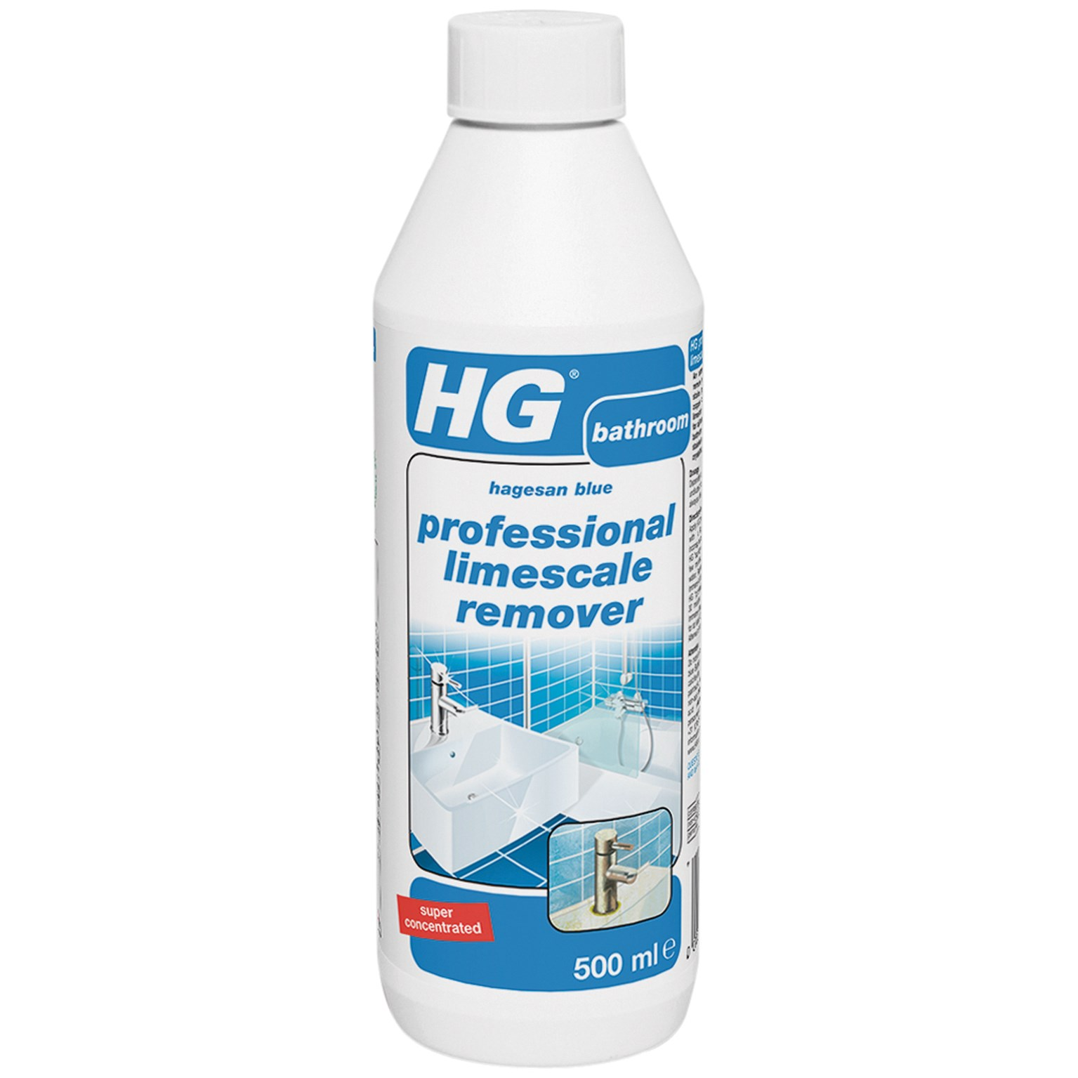 Hg professional limescale remover 500ml home cleaning for Sanivac concentrate bathroom cleaner and lime remover