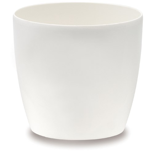 Elho Brussels 16cm Diamond Round Flower Pot - White