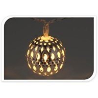 10 LED Moroccan Silver Ball Light