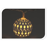 10 LED Moroccan White Ball Light