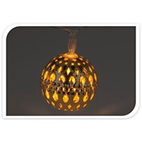 10 LED Moroccan Gold Ball Light